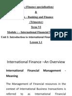 Lesson 1.1 International Finance Management
