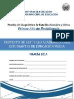Prueba de Diagnóstico - Estudios Sociales - Primer Año Bachillerato - PRAEM 2014