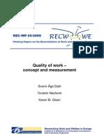 Quality of Work - Concept and Measurement - REC-WP_0509_Dahl_Nesheim_Olsen (1)