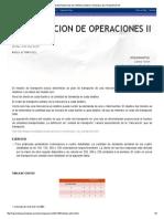 Investigacion de Operaciones Ii_ Modelo de Transporte