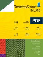 Rosetta Stone Course Content Level 4 - Italian