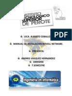 Manual de Instalacion de So Novell Netware