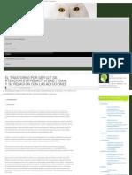 El Trastorno Por Déficit de Atencion e Hiperactividad (Tdah) y Su Relación c