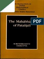 The Mahabhasya of Patanjali - Surendranath Das Gupta