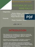 Breve Historia de Los Minerales