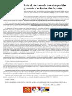 Declaración del Nuevo Partido Comunista (NPC - FADA -FA)