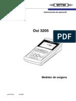 Manual Del Medidor de Oxígeno, Oxi 3205