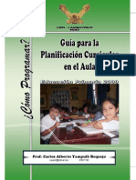 Guia Para La Planificacion Curricular en El Aula