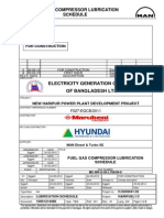 Lubrication Schedule of man turbo disel compressor