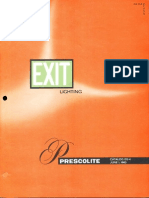 Prescolite Exit Lighting Catalog EX-4 1963