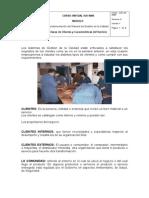Clases de Clientes y Caracteristicas Del Servicio
