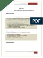 Unidad 1. Historia y Características de La Evaluación Educativa