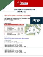 MSC Musica Mediterana de Vest Septembrie Octombrie Noiembrie 2014 Roma Civitavecchia 7 Nopti