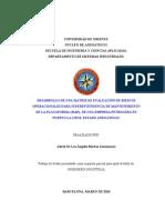 Tesis.desarrollo de Una Matriz de Evaluación de Riesgos Operacionales