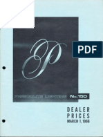 Prescolite Dealer Pricing List 15D 1966