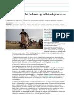 O Aquecimento Global Deslocou 144 Milhões de Pessoas Em Cinco Anos _ Sociedade _ Edição Brasil No EL PAÍS