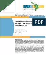 Sugar Mill in Bolivia - Financial Feasibility 2010
