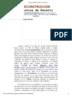 Derrida en Castellano - Peretti - Deconstrucción