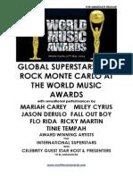 Updated - Press Release - World Music Awards - Monaco 2014