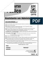 Assistente Em Administracao TIPO E