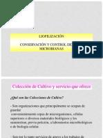 liofilizacion, CONSERVACIÓN Y CONTROL DE CEPAS MICROBIANAS