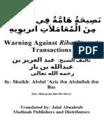 en warning against riba transactions