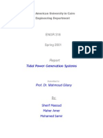 Tidal Power Generation Systems- Report