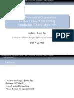 Industrial Organisation