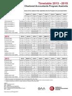 Timetable 20132015