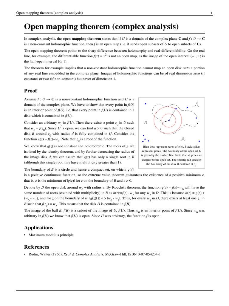 Open Mapping Theorem Open mapping theorem (complex analysis).pdf | Complex Analysis  Open Mapping Theorem