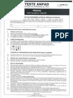 Teste Anpad - Português - Edição - Fevereiro 2013