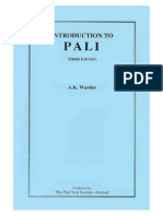 Warder a K Introduction to Pali