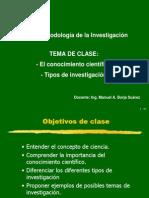 Clase3-El Conoc Cient-Tipos Inv