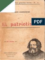Bakunin El Patriotismo