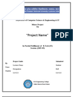 Department of Computer Science & Engineering & IT Minor Project