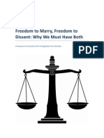 Freedom to Marry, Freedom to Dissent