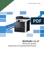 Bizhub C35 Ug Printer Copy Scanner de 3 2 1