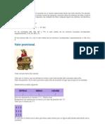 El Valor Posicional Depende de La Posición de Un Número Determinado Dentro Del Orden Decimal