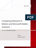 Comparing Research in Motion and Microsoft Mobile Solutions