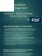 SCL - Winning the Deming Prize - Case Study