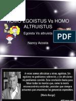 Homo Egoistus vs Homo Altruistus