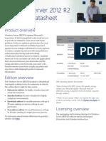 Windows Server 2012 R2 Licensing Datasheet