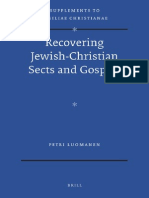 Petri Luomanen - Recovering Jewish-Christian Sects and Gospels - 2012