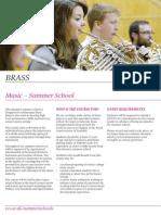 Brass - Summer Schools