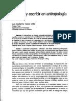 Vasco-Vivir y Escribir en Antropología