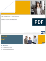 Service Order Management in Service With SAP CRM 2007
