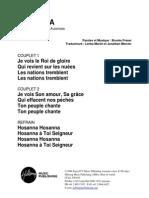 Hosanna - French
