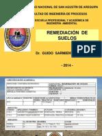 1 Remediación Suelos UNSA 2014