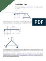 Estructura Articulada y Viga