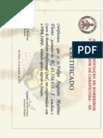 Certificado Bombeiro Civil Frente